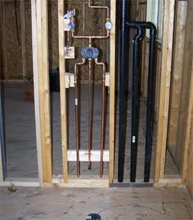 Steve co plumbing maintenance inc serving waterloo for Toilet water line rough in